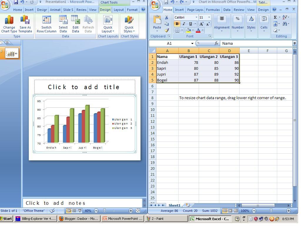 Cara Membuat Grafik Pada Ms Powerpoint Febieony
